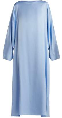 The Row Impey Silk Dress - Womens - Light Blue