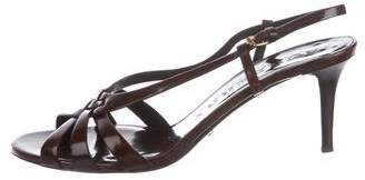 Burberry Patent Leather Mid-Heel Pumps