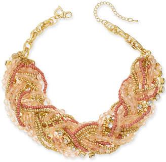 Thalia Sodi Gold-Tone Multi-Bead Torsade Necklace, Created for Macy's