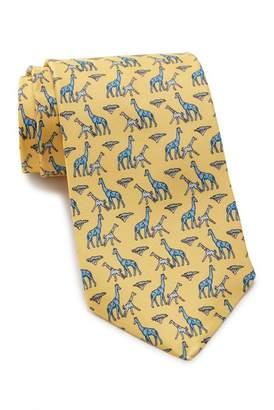 Thomas Pink Giraffe Family Print Silk Tie