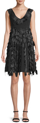 Sportmax City Ribbon Trim A-Line Dress