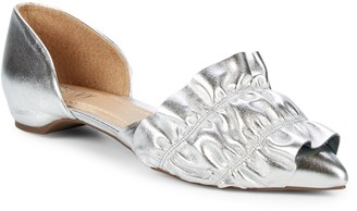RENVY Ruffled Leather D'Orsay