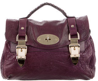 Mulberry Alexa Textured Leather Satchel $560 thestylecure.com