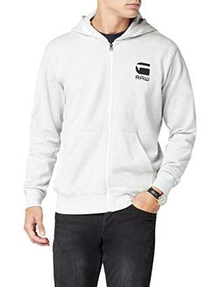 G Star Men's Doax Hooded Zip Thru Sw L/s Hoodie, (White HTR 129)