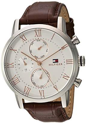 Tommy Hilfiger Men's 'Sophisticated Sport' Quartz Stainless Steel and Leather Casual Watch
