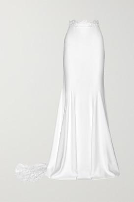 Rime Arodaky - Pennington Lace-paneled Crepe Maxi Skirt - White