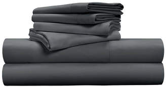 Pillow Guy Luxe Soft & Smooth Tencel 6-Piece Sheet Set - Charcoal / Queen Size Bedding
