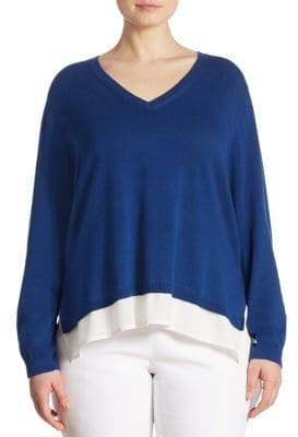 Joan Vass Plus Hi-Lo Sweater