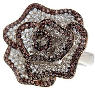 LeVian Suzy Jewelry Sterling Silver Chocolate CZ Ring