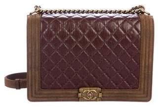 Chanel Paris-Edinburgh Large Quilted Boy Bag