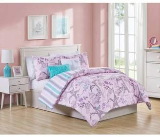 VCNY Home When in Paris 4/5 Piece Girls Reversible Comforter Set, Multiple Sizes Available