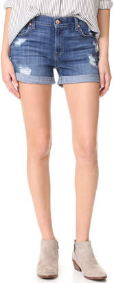 7 For All Mankind Roll Shorts $169 thestylecure.com