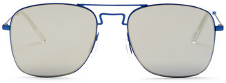 KENZO Unisex Square Metal Sunglasses $350 thestylecure.com