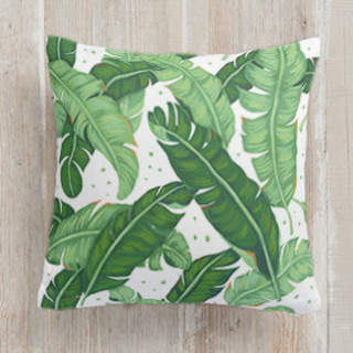 Banana Leaves Self-Launch Square Pillows