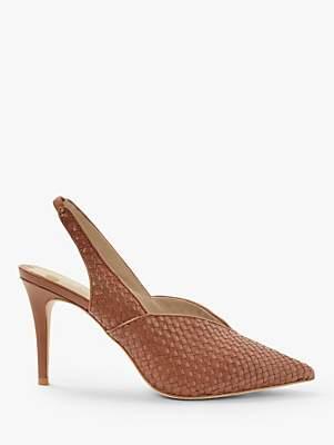 d1c60bf6d4a Boden Hazel Woven Slingback Stiletto Heel Court Shoes