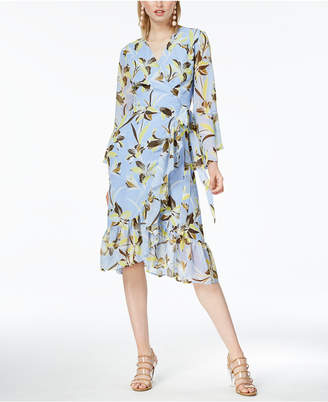 Bar III Ruffled Wrap Dress, Created for Macy's