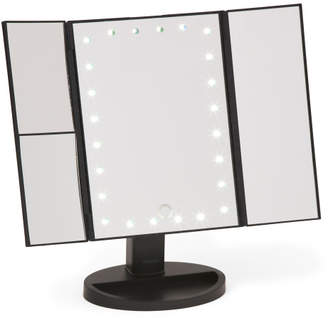 Led Trifold Magnification Mirror