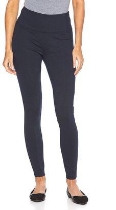 Women's Apt. 9® Tummy-Control Navy Ponte Leggings $36 thestylecure.com