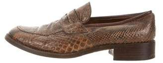 Fratelli Rossetti Python Round-Toe Loafers