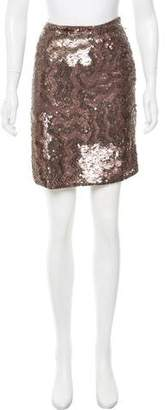 Gold Hawk Knee-Length Sequined Skirt