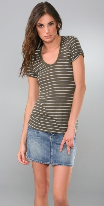 Splendid Mini Stripe Slub T-Shirt