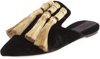 Sanayi313 Garcia Velvet Tassel Slipper