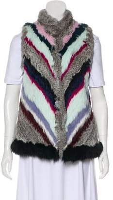 Elizabeth and James Multicolor Fur Vest