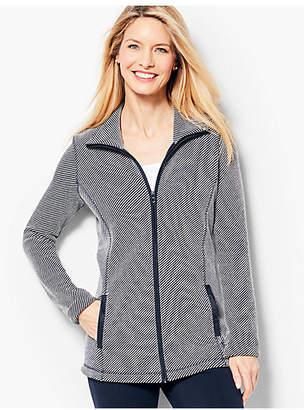 Talbots Twill Knit Jacket