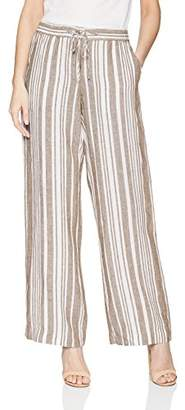 Jones New York Women's Stripe Linen Easy Pant