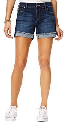 "Celebrity Pink Jeans Women's 5"" Mid Rise Fray Cuff Denim Short"