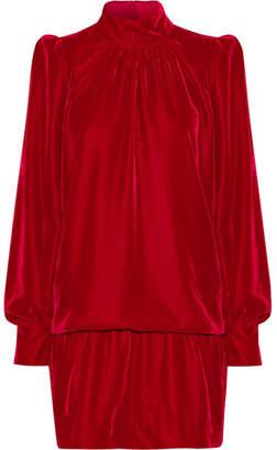 Marc Jacobs Velvet Mini Dress - Red