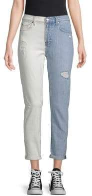 7 For All Mankind Josefina Two-Tone Jeans
