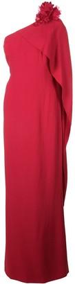 Marchesa asymmetric maxi dress