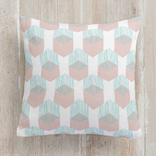 Tropics: Slipping Hexagons Square Pillow