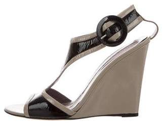 Anya Hindmarch Patent Leather Wedge Sandals