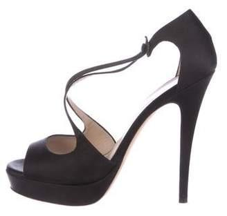 Saint Laurent Satin Platform Sandals