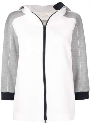Herno zipped two-tone jacket