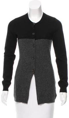 Vera Wang Merino Wool Colorblock Cardigan $95 thestylecure.com