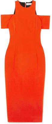 Victoria Beckham Cold-shoulder Jersey Dress - Tomato red
