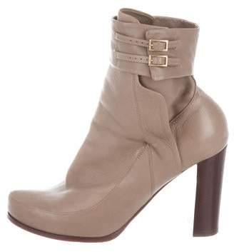 Nina Ricci Leather Ankle Boots