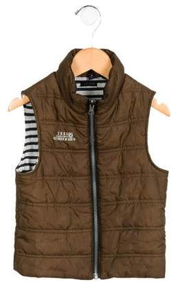 Ikks Boys' Quilted Mock Neck Vest
