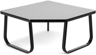 "OFM Model TABLE3030 30"" Corner Table with Sled Base, Gray"