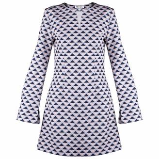 Muza A-Line Mini Dress With Geometric Motifs