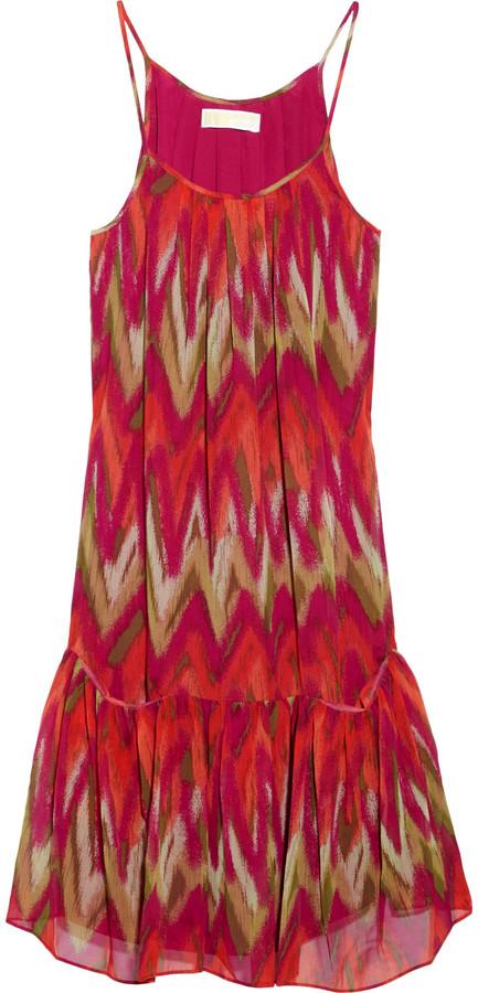 MICHAEL Michael Kors Ikat-print silk-chiffon dress