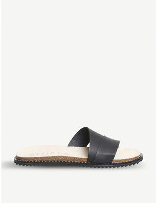 Office Sorrento asymmetric leather sandals