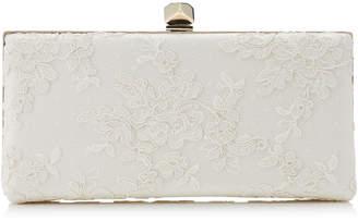 8d64b9254875 Jimmy Choo CELESTE S Black Floral Lace Clutch Bag with Cube Clasp