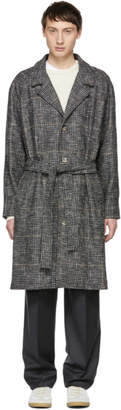 Editions M.R Grey Check Tristan Belted Coat