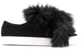 Mr & Mrs Italy fur-trimmed sneakers