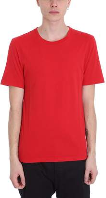 Maison Margiela Red Cotton And Nylon T-shirt