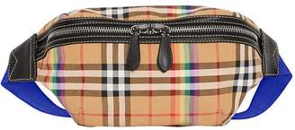 Burberry rainbow check belt bag
